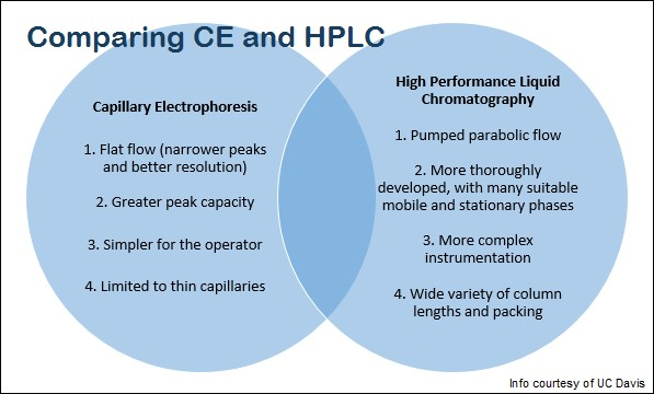 Comparing CE and HPLC